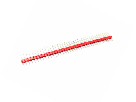 2 PACK 40 Pins 2.54 mm Single Row Male Pin Header Strip