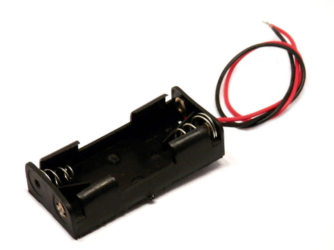 2 x AAA Battery Holder Case with Wires Leads