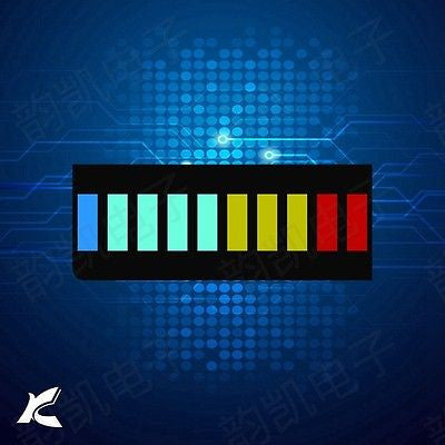 10 Segment Led Bargraph Light Display Red Yellow Green Blue