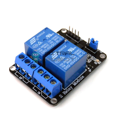 5V 2 Channel Relay Module With Optocoupler