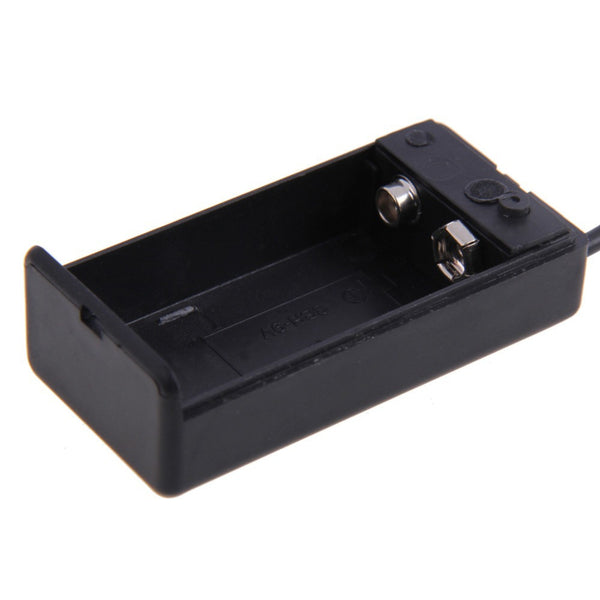 9V Battery Holder Box Case with ON/OFF Switch and Power Cable