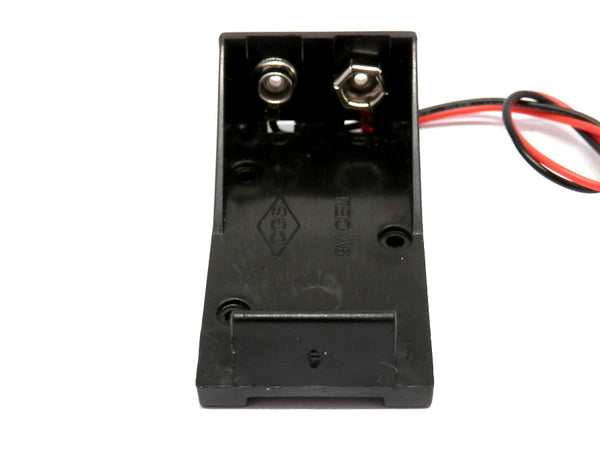 9V Battery Holder Case with Wires Leads