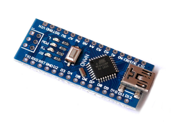 Arduino-Compatible NANO ATMEGA328P with Mini-B USB Cable