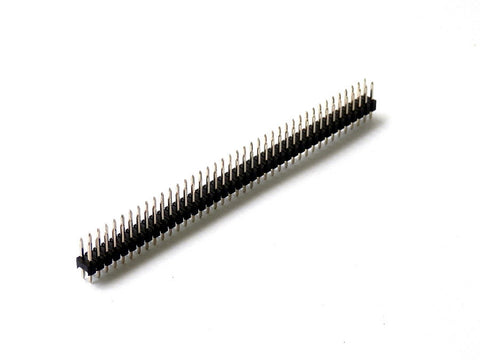 2 PACK DOUBLE ROW PIN HEADER STRIP 80 PINS 2.54MM