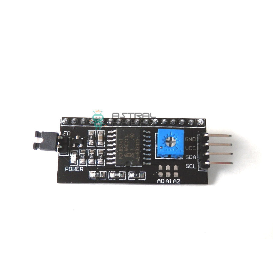 I2C Serial Interface Module for LCD Displays 1602, 1604 & 2004