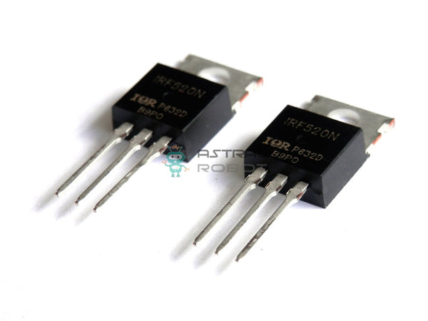 2 PACK - IRF520N Power MOSFET N-Channel TO-220