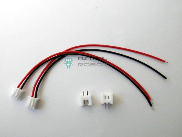 3 Pack JST XH 2.5mm 2 Pin Battery Connector with Plugs