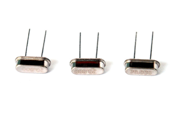 3 PACK MEC - 20 MHz Crystal Oscillator HC-49S LOW PROFILE