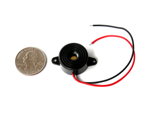 Audiowell - Piezo Electronic Tone Buzzer Alarm 3-24V with Mounting Holes