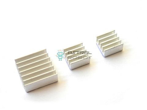 Aluminum Heat Sink Set for Raspberry Pi 2 or 3