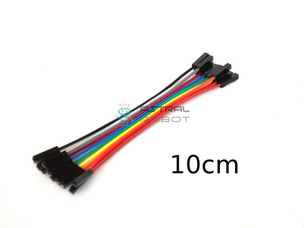 10 PACK Dupont Female to Female Jumper Wires 10cm