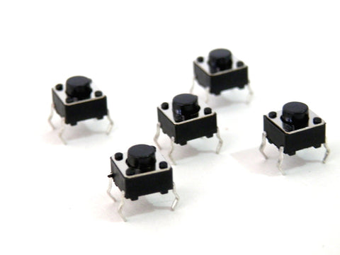 10 PACK Momentary Micro Switch Push Buttons 6x6x5 mm