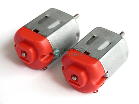 2 PACK R130 Small DC Motor 3-6V 0.35-0.4A 8000 RPM