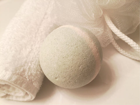 Ginger Lime Aloe Bath Bomb from Shower With Us Miami