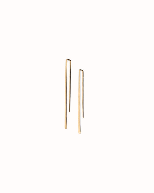 Track + Field Earrings in 14K Gold