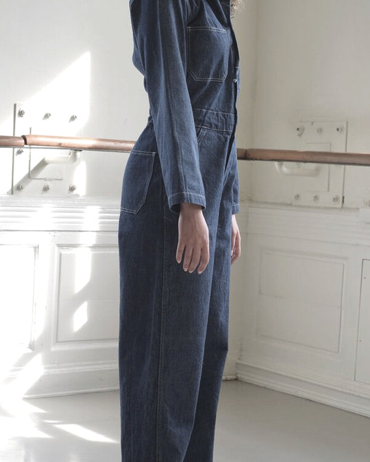 Zip Jumpsuit in Denim