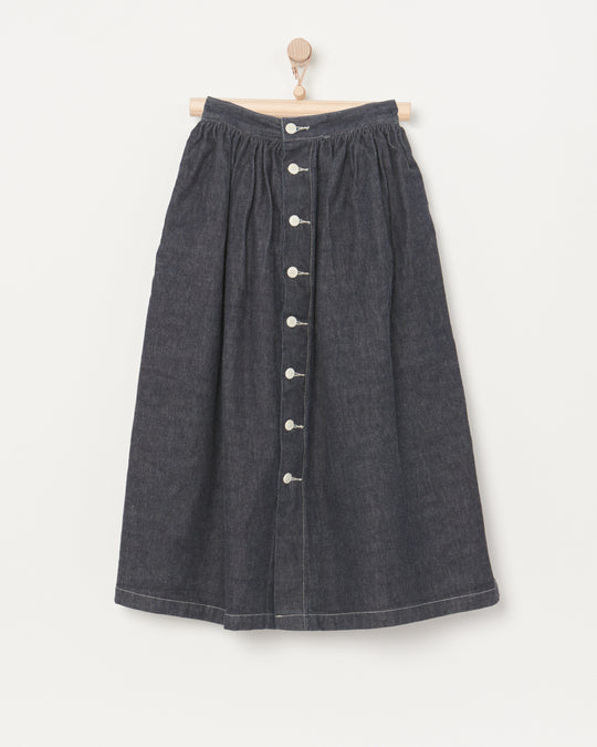 Floret Skirt in Selvage Denim