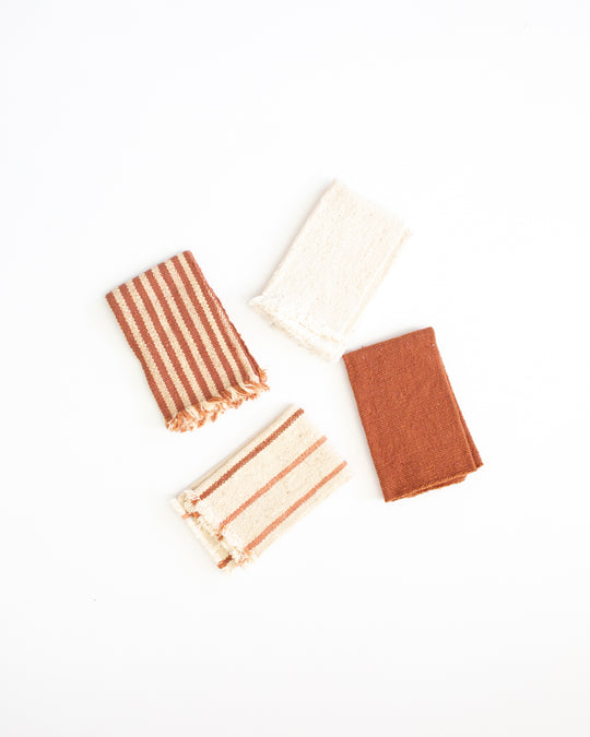 Placemats in Terracotta and Oatmeal