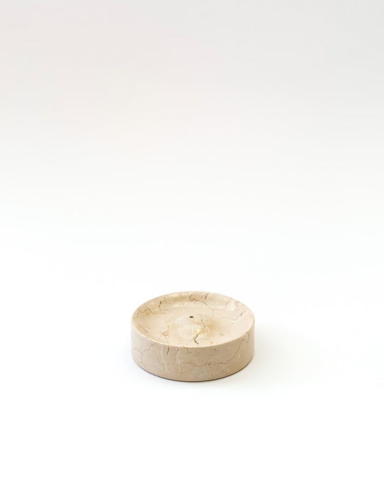 Incense Holder in Cream Marble