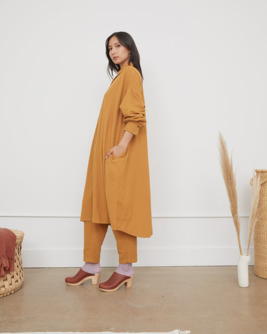 Long Shirt Dress in Khaki
