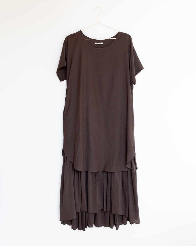 22ca199bb03 Double Dress in Charcoal Double Dress in Charcoal. Black Crane