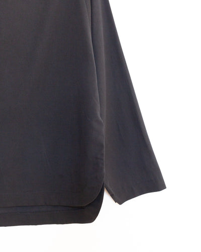 Folded Neck Top in Midnight