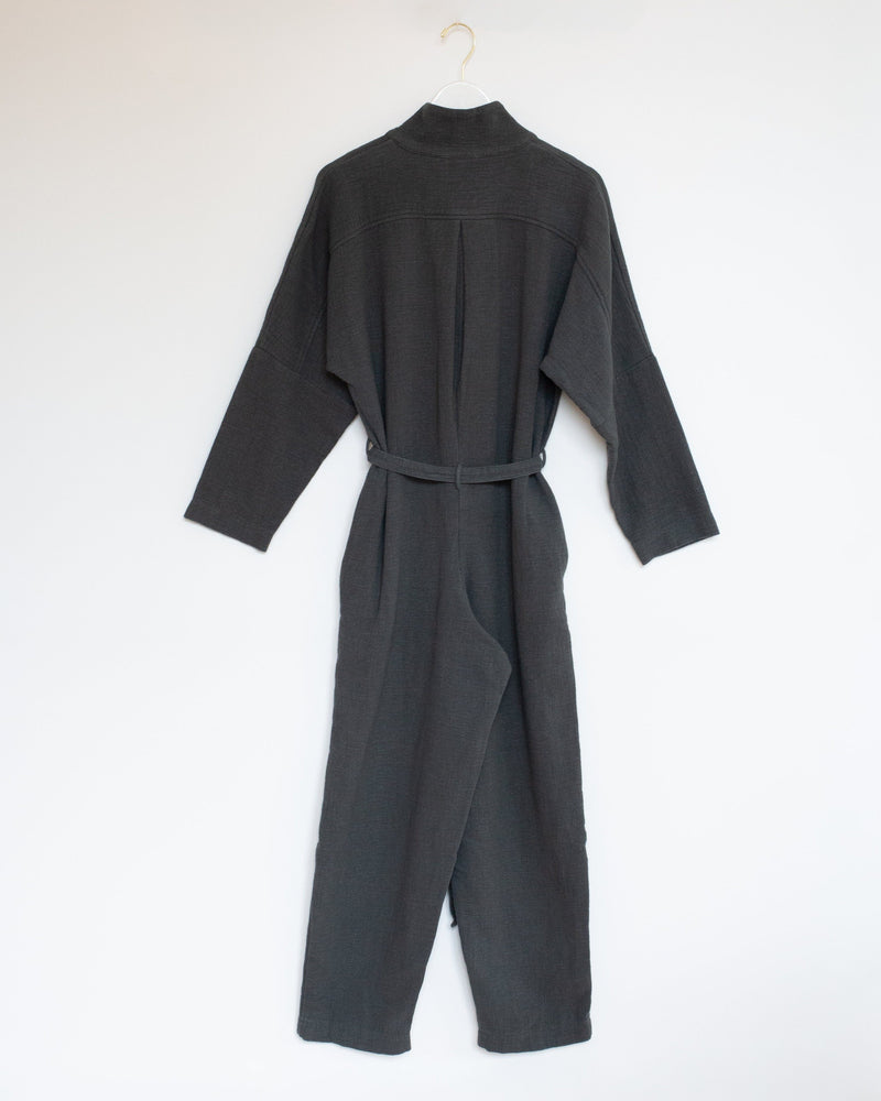High Neck Jumpsuit in Dark Grey