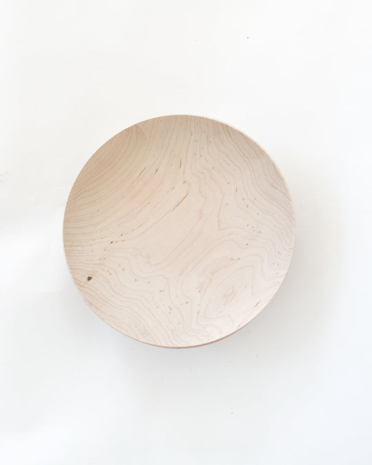 Shallow Maple Bowl