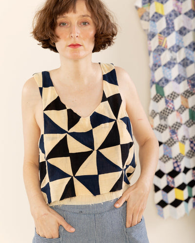 Double Layer Tank in Patchwork