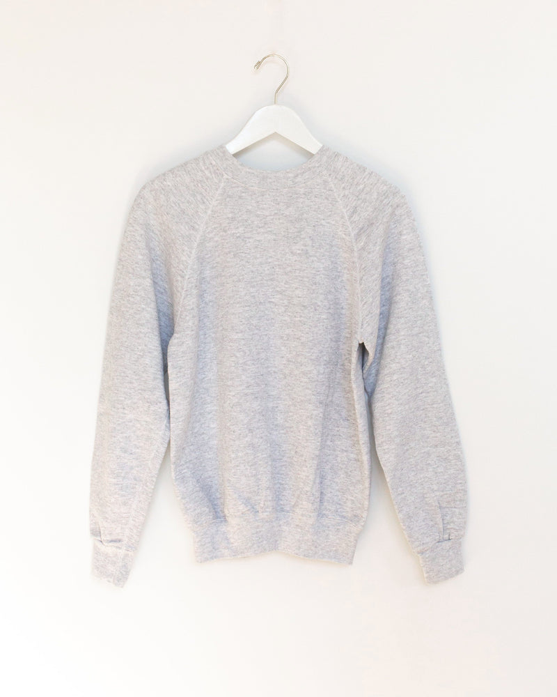 Patchwork Sweatshirt in Light Grey