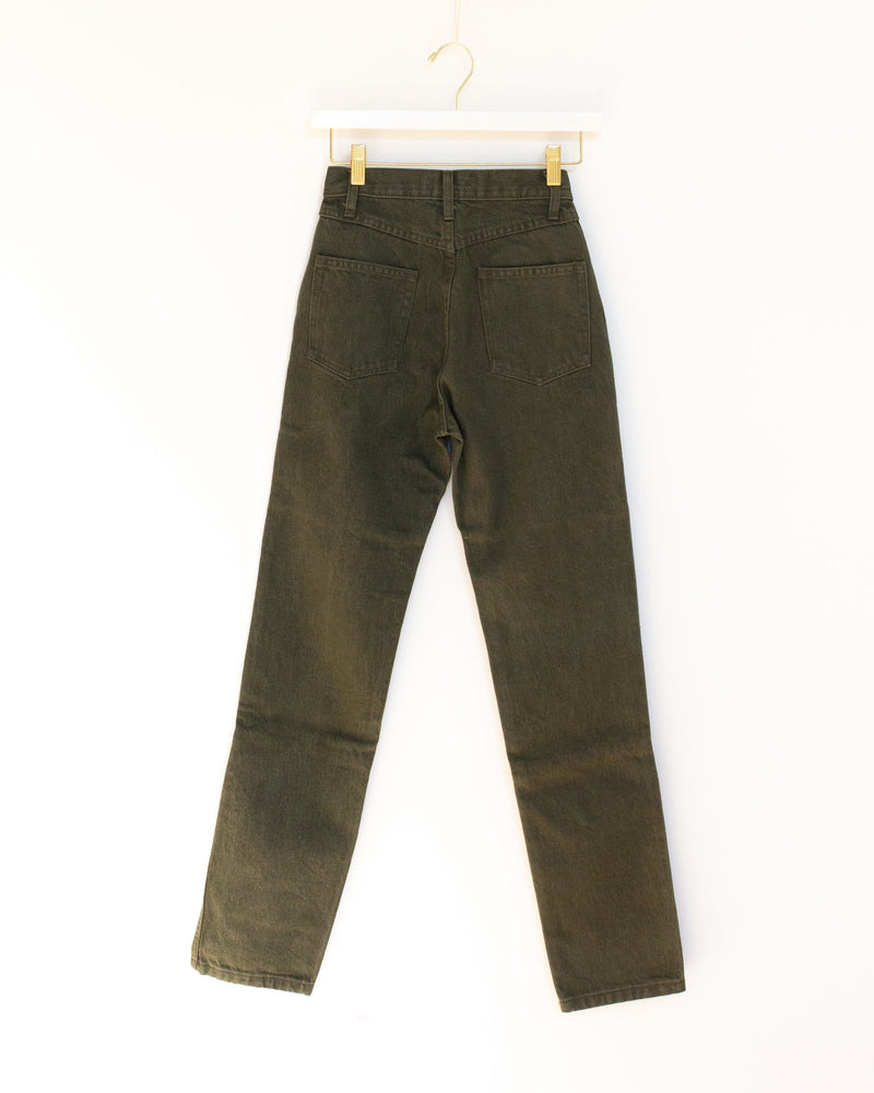 Two Tone Jeans in Sage