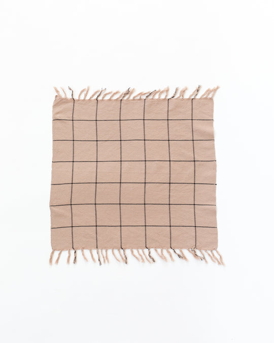 Big Sur Grid Pink Napkins
