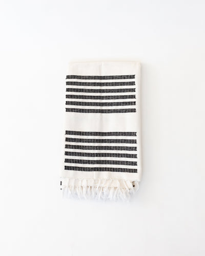Procida Black Rectangle Blanket