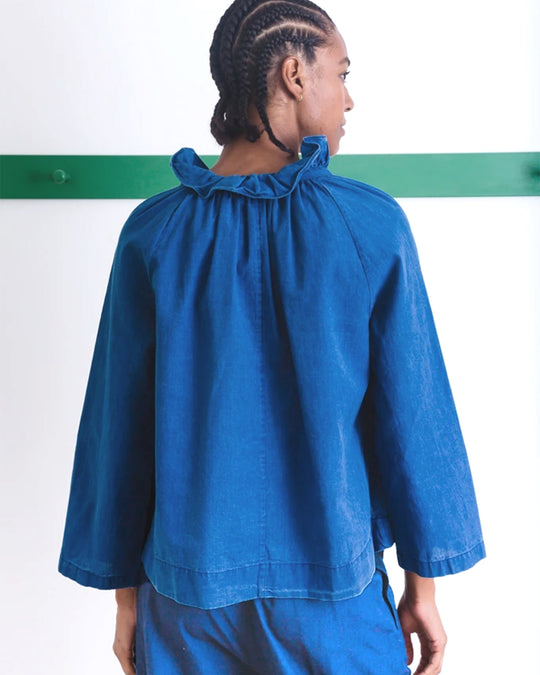 Elizabeth Top in Washed Indigo