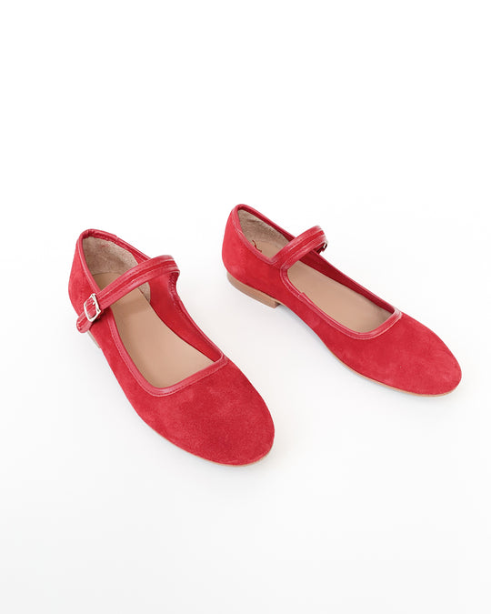 Ellie Mary Jane in Red Suede