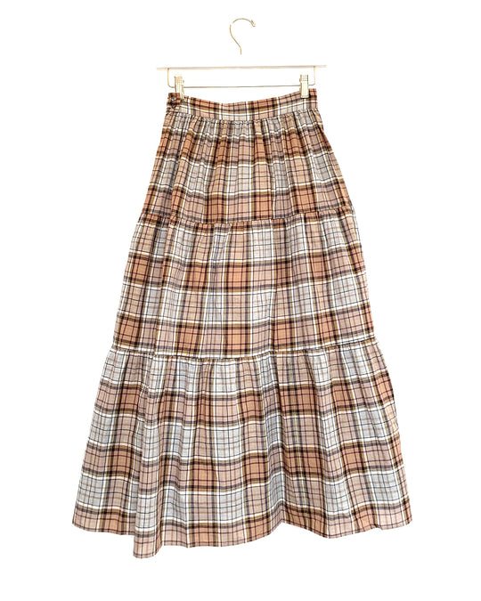 Pixie Skirt in Brown Plaid