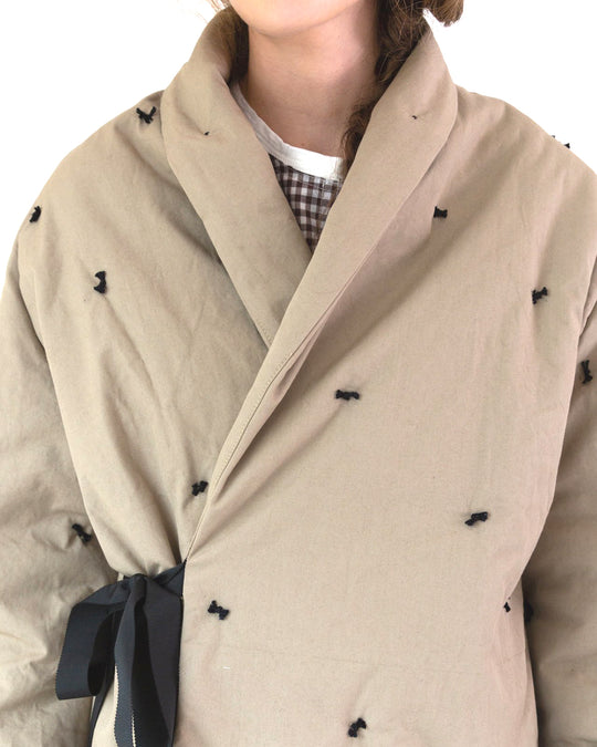Estella Coat in Khaki Canvas