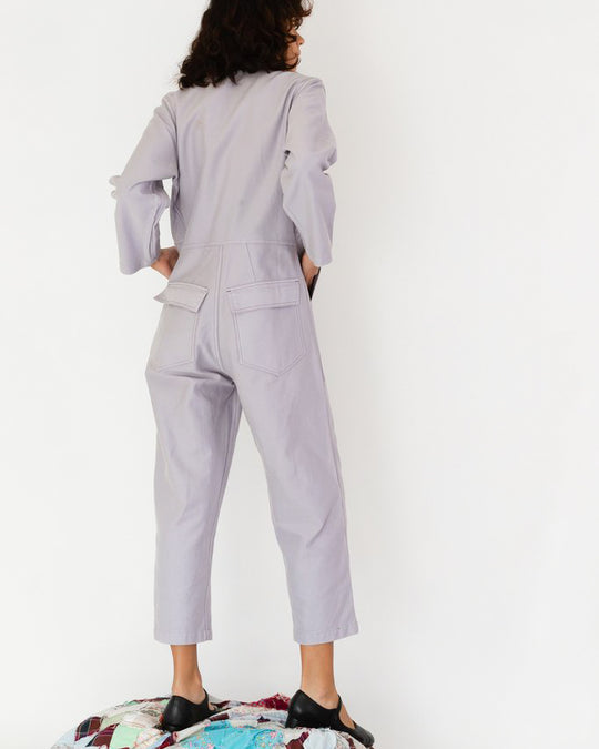 Ace Jumpsuit in Lavender Twill