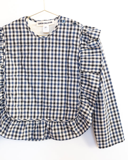 Bella Ruffle Top in Gingham