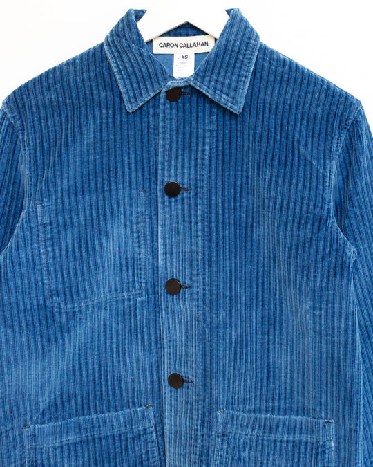 Krasner Jacket in Blue Corduroy