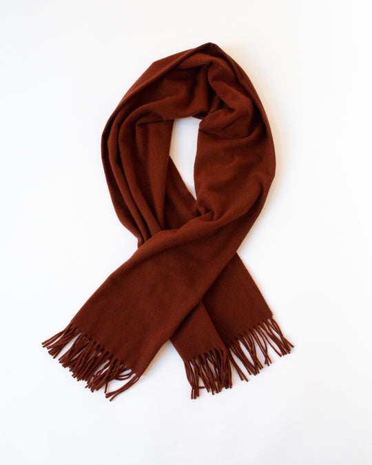 Albion Scarf in Russet