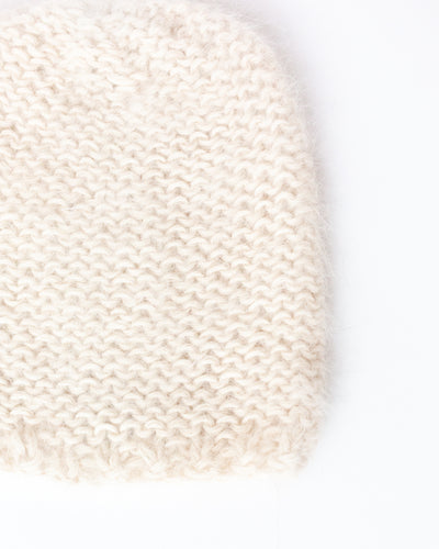 Mohair Hat in Cream