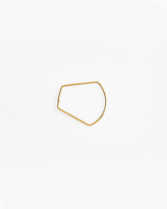 Contour Key Ring in Brass