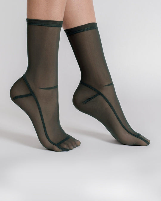 Mesh Socks in Dark Green