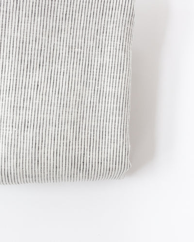 French Linen Duvet in Pinstripe