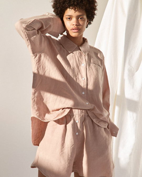 Loungewear Set in Clay Pink
