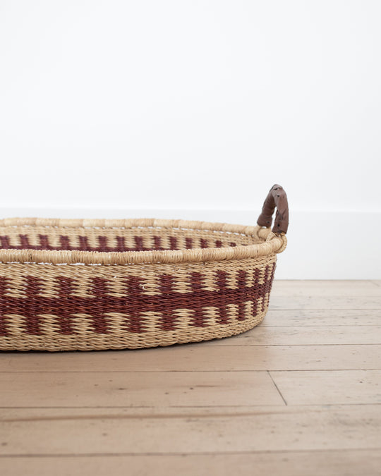 Handmade Changing Basket in Brown Tooth