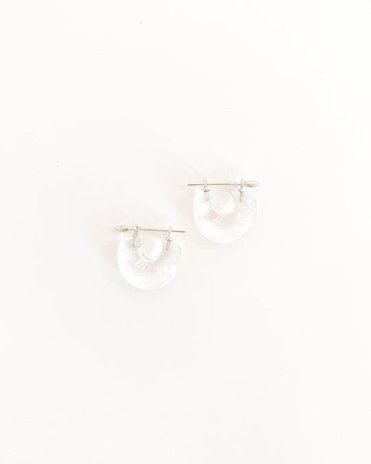 Arch Earring in Rock Quartz/Sterling Silver
