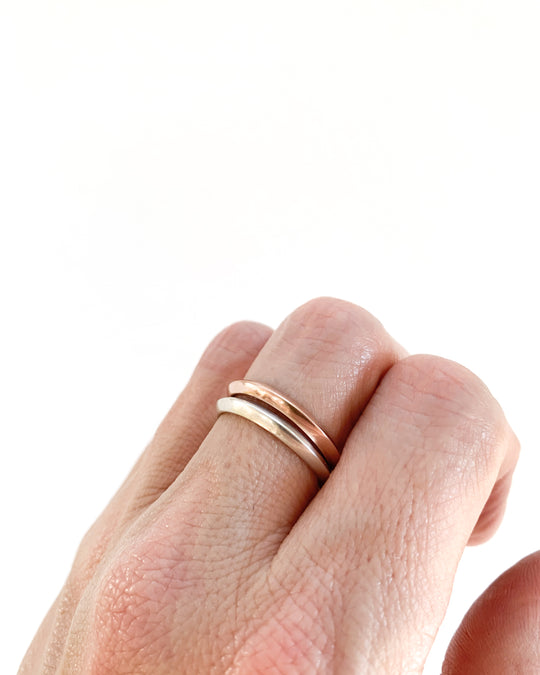 Thin Ridge Ring in 14k Rose Gold