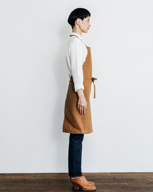 Linen Daily Apron in Ochre
